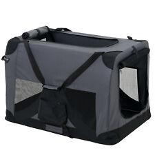 PRO.TEC® Hundetransportbox Grau Faltbar Transportbox Hunde Falt Box Trage Tasche