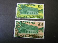 PAPUA NEW GUINEA, SCOTT # 148/149(2), COMPLETE SET 1961 COUNCIL CHAMBERS MNH