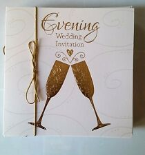 "D)lot 10 Cartes Anniverssaire Mariage Evening ""Wedding invitation"" Neuves"