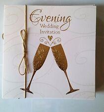 "D)lot 10 Cartes Anniverssaire Mariage Evening ""Wedding invitation"" Neuves"