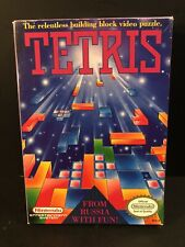 Vintage 1989 Tetris Nintendo NES Video Game Complete in Box