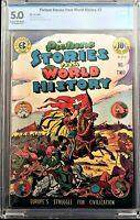 🍁 EC Comics: Picture Stories From World History #2, July 1947, CBCS 5.0 Graded!