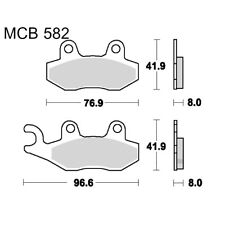 Brake Pad Scooter TRW For Hyosung MS3 250 i 2008 - 2010