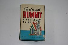 VINTAGE  ANIMAL RUMMY CARD GAME IN ORIGINAL BOX