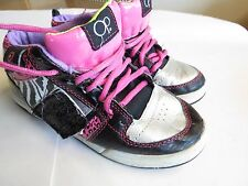 OP Ocean Pacific Girls 3M Youth Black Pink Zebra Ankle Athletic Shoe Gym Sneaker