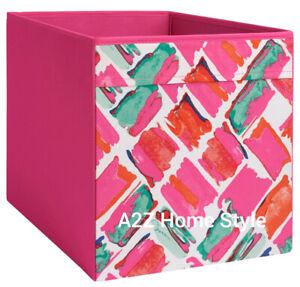 4 x IKEA Pink DRONA Box Fabric Storage Expedite Kallax Shelving Books Toys
