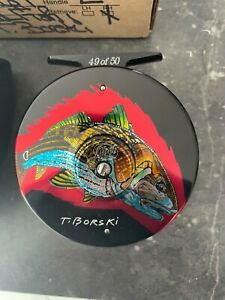 Abel limited edition 49/50 T Borski Redfish fly reel. New in pouch and box
