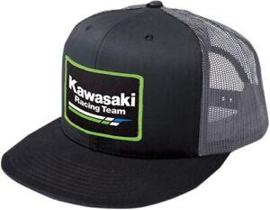 Factory Effex Multi Kawasaki Racing Flat Bill Mesh Hat