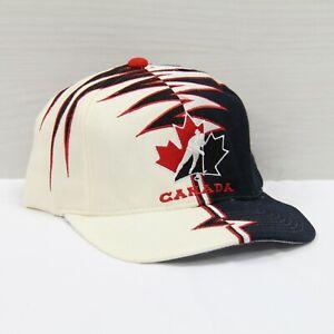 Vintage Team Canada Hockey Starter Shockwave Wool Strapback Hat Cap OSFA