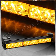 "14"" Amber LED Traffic Advisor Emergency Warn Strobe Flash Light Bar Universal 5"