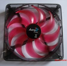 Aerocool 14cm 140mm LED Red PC Case Fan, 3 and 4 Pin, 9 Blades, OEM
