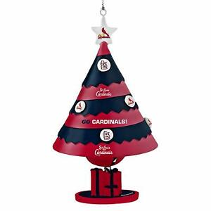 ST LOUIS CARDINALS TEAM HANGING CHRISTMAS TREE ORNAMENT WITH BELL LICENSED