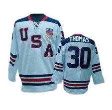2010 Tim Thomas #30 Hockey Jerseys Team USA Stitched Custom Names Boston Fans