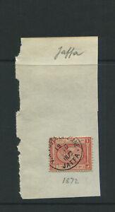 EGYPT..1872 JAFFA POSTMARK. OFFERED AS IS. EX GEORGE HOUSTON.