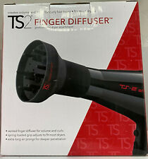 TS2 Finger Air Diffuser Black Professional Hair Dryer Attachment for Curly Hair