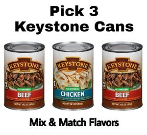 Keystone Meat All Natural Beef or Chicken 3 Cans 14.5 oz Each Mix & Match