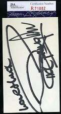 RICK SPRINGFIELD JSA COA HAND SIGNED 3X5 INDEX CARD AUTHENTICATED AUTOGRAPH