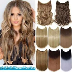 THICK Invisible Wire In Halos One Piece Real as Human Hair Extensions Secret USA