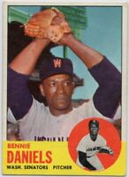 1963 Topps #497 Bennie Daniels VG-VGEX+ Tough High # Senators FREE SHIPPING