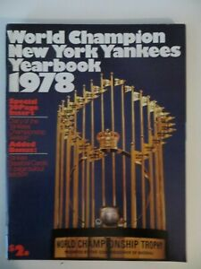 New York Yankees 1978 ML Baseball Yearbook with Cards Excellent