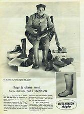 Publicité Advertising 089  1960 Hutchinson Canat Aigle bottes Chasse