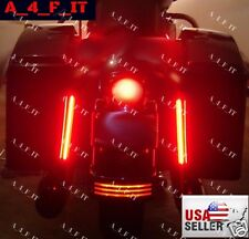 LED Saddlebag Running Brake Turn Signal Lights Fit For Harley Touring Glide FLHR