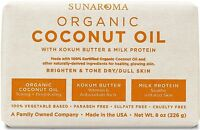 Sunaroma Organic Coconut Oil Soap 8 oz (Pack of 4)