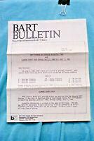 BART Bulletin #148 - Buses to Alameda County Fair - 6/18/85