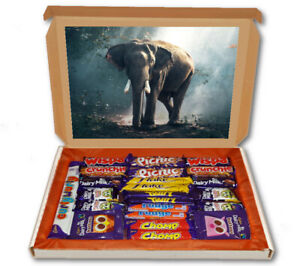 Elephant Africa Animal 24 Bar Cadbury Chocolate Hamper Personalised Gift Box