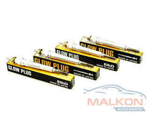GLOW PLUGS SET OF 4 JAPAN MADE FOR ENGINE 1KZ-TE 3.0TD 93-04' GT227