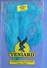 Straußenfeder Ostrich Teilstück aus Prachtfeder Fiberlänge 10 - 15 cm TEAL BLUE