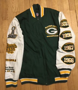 Greenbay Packers Super Bowl Champion Commemorative Jacket. Size Small Never Warn