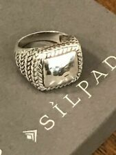 SILPADA Sterling Silver Hammered Braided Ring Size 10 R1646