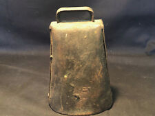 Old Vtg Antique Primitive Collectible Working Folded Riveted Metal Cow Bell