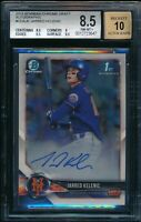 JARRED KELENIC AUTO 2018 Bowman Chrome Draft Autograph RC BGS 8.5/10 NM-MINT+