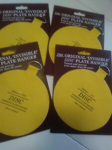 """set of 4..5 1/2"""" Invisible Disc Adhesive Plate Hangers"""