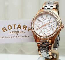 c898eec4496e New Stunning ROTARY Ladies Watch Rose gold Plated Swarovski Multi dial  RRP£169