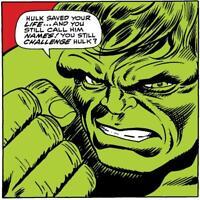 Marvel Fine Art (Lichtenstein)Fools Challenge Incredible Hulk Signed by Stan Lee