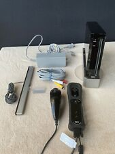 Nintendo Wii Black Console RVL-001 Game Cube Compatible Bundle