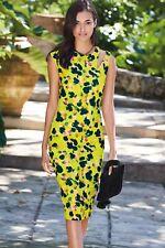 WOMENS NEXT CITRINE BODYCON DRESS SLASH SHOULDER SUMMER ANIMAL LADIES RRP £38!!!