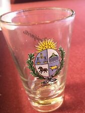 Large Rare Uruguay Shot Glass 4OZs 4 inch by 2 inch Piriapolis Also On Glass