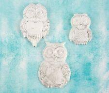 Prima Shabby Chic Treasures Ingvild Bolme Resin Embellishments Large Owls 892586