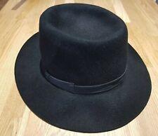 """Susquehanna Hat Co"" Vintage Black Rigby Fedora Trilby Size 56/57 Unisex £17"