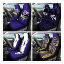 Car Seat Cover Personalized Nonslip Auto Seat Protector 2Pc for Baltimore Ravens