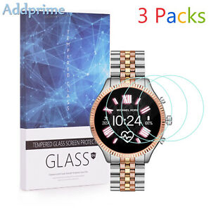 For Michael Kors Access Lexington 2 9H Tempered Glass Screen Protector 3 Packs