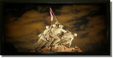 US Marine Corps War Memorial (Iwo Jima Memorial) Picture on Stretched Canvas, Wa