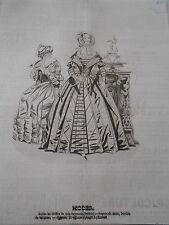 Litho 1840 Modes  Robe en étoffe de soie capote satin