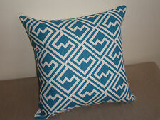 Blue White Geometric Greek Key style modern Cushion Cover 45CM Au Made