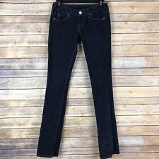 True Religion Womens Jeans Cotton Stretch Stealth Billy Straight Leg 5 Pocket 24