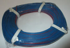 [0,279 €/ M] Twin Braid Wire 50m Red/Blue New